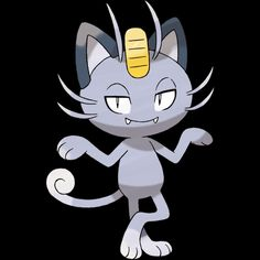 "052-Alolan Meowth, scratch cat Pokemon. Type-dark. Ability-pickup or technician, rattled, hidden ability. Height-1'04"". Weight-9.3 lbs."