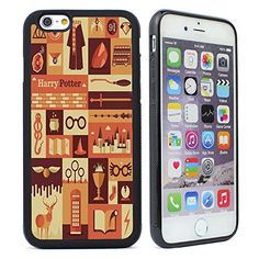 """Customized Harry Potter Rubber Case Cover for iPhone 6/6s (4.7"""")-Black"""