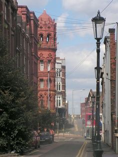 A view up Constitution Hill just look at the lovely terracotta coloured building. Birmingham, Sutton Coldfield, Walsall, Constitution, Terracotta, Big Ben, Past, 1, Places