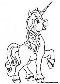 Printable unicorn coloring pages for girls - Printable Coloring Pages For Kids