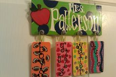 I want this ... with owls...Personalized Teacher Passes for the Classroom by GingerH13 on Etsy, $45.00