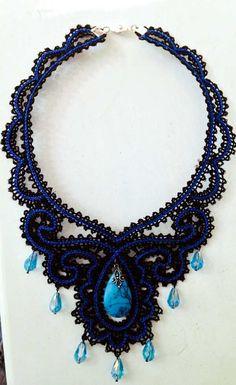 Advanced Embroidery Designs - FSL Battenberg Victorian Necklace