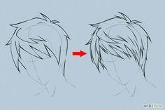 6 manières de dessiner des cheveux mangas - wikiHow