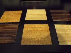 Visual discrimination activity - matching wood stain samples!