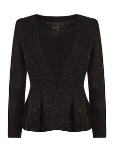 Koo-Ture Jade Lace Peplum Jacket in black