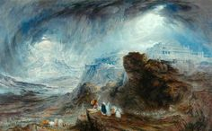 "classic-art: ""Joshua Commanding the Sun to Stay Still John Martin, 1848 "" Thomas Gainsborough, Hans Holbein, Book Of Joshua, Eclipse Solar, John Martin, Jesus Art, England, Art Uk, Outsider Art"