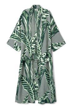 Weekday image 1 of Alanya Print Kimono in Turquoise Greenish Dark