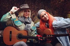 The Austrian, England based, folk-beat duo MonaLisa Twins release the LP ORANGE on the Women In Music, Cowboy Hats, Mona Lisa, Twins, Studio, Gallery, Musicians, Waiting, Movies