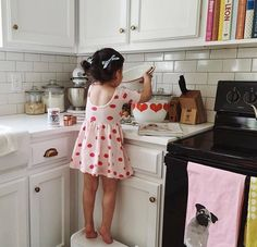 """""""Cooking with kids is not just about ingredients, recipes, and cooking. It's about harnessing imagination, empowerment, and creativity."""" - Thanks Tatiana for sharing this adorable pic. #wearefreebabes"""