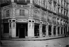 Fotos de antiguas tiendas y comercios de Zaragoza-Rafael Castillejo- Louvre, Street View, City, Building, Travel, Memories, Zaragoza, White Clothing, 19th Century