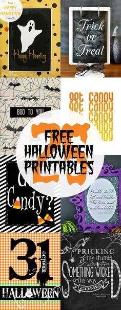 25 Free Halloween Printables - The perfect way to do Halloween decorations at the last minute!