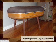 Classic retro suit case stool | Trade Me