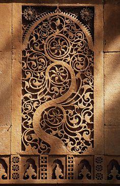 View of Jali Screen at Sidi Saiyad Mosque - Ahmedabad, India