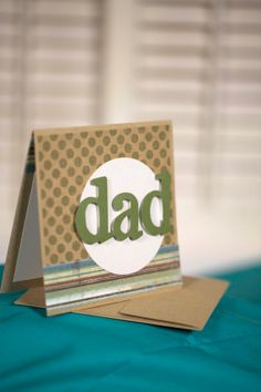 rustic brown and green father's day card by cassandra7creates, $4.00