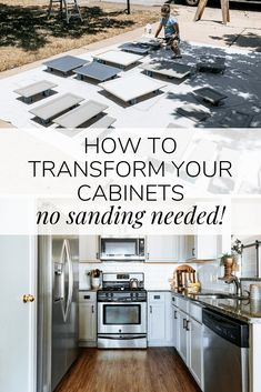 How to totally transform your kitchen cabinets WITHOUT needing to sand! This paint is amazing and you'll love the new look you can get in just a couple of days! Rustoleum Cabinet Transformation, Cabinet Transformations, Cabinet Makeover, Best Paint For Kitchen, Kitchen Paint, Diy Kitchen Remodel, Kitchen Reno, Kitchen Ideas, Real Cooking