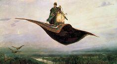 Wiktor Wasniecow,Latający dywan  Śniło mi się, że latałam. Latającym dywanem. Już na początku napotkałam pewną trudność — nie mogłam na niego wejść. Wsiadałam bowiem nie na przystanku usytuo…