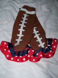 Houston Texans Themed Leg Warmers and Matching Bow. $15.00, via Etsy.