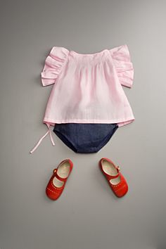 sweet little outfit for baby girl Little Girl Fashion, My Little Girl, My Baby Girl, Kids Fashion, Baby Girls, Outfits Niños, Kids Outfits, Baby Kind, Kid Styles