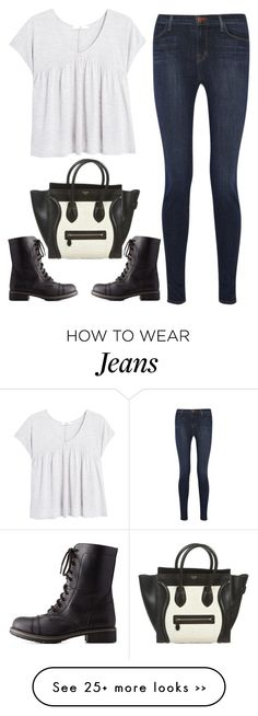 """""""harry up!"""" by ecem1 on Polyvore featuring moda, MANGO, J Brand, CÉLINE y Charlotte Russe"""