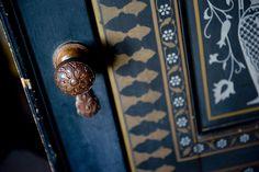 "Olana – ornate doorknob, stenciled door – ""Views of Olana"" by Dion Ogust"