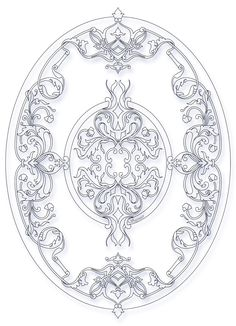 #autocad #ıllustrator #drawing #sketch #medallion #mandala #pattern Stencil Patterns, Stencil Designs, Pattern Art, Mandala Pattern, Lazer Cut Wood, Islamic Art Pattern, Peacock Painting, Leather Carving, Foil Art