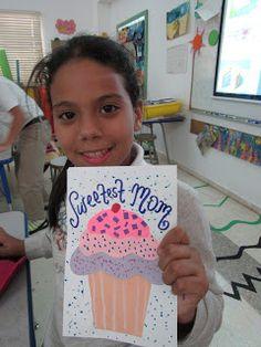 MC School Art: 5th Grade Mother's Day cupcake cards