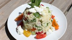 Dinner for one: Couscous-Salat  Credit: Heidi Strobl