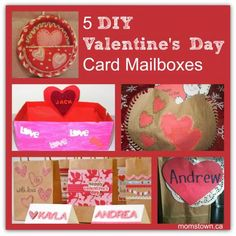 Valentine's Day DIY mailbox for kids- great for #teachers