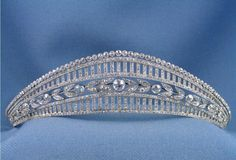 A bell epoque tiara by Chaumet from 1905; in some ways very similar to the Prussian tiara currently being worn by the Royal Family of Spain in its classical appearance. This one was sold in Milano, by Christie's on 25th November 2009 for 33,560 Euros