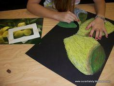 Oil pastel art for kids canvases Ideas Art Lessons For Kids, Art Lessons Elementary, Art For Kids, Kids Work, Art Children, 4 Kids, Grandma Moses, High School Art, Middle School Art