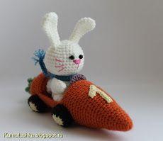 Hare los morkovkomobile coelho na cenoura em crochet