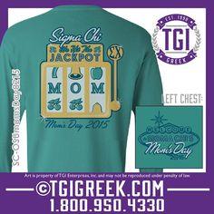 TGI Greek - Sigma Chi - Mom's Day - Greek T-shirt #tgigreek #sigmachi #momsday