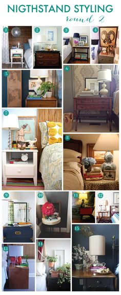 30 more ways to style a nightstand