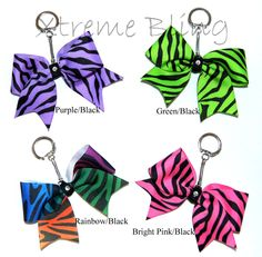 Cheer Bow Keychain by XtremeBling on Etsy, $7.00
