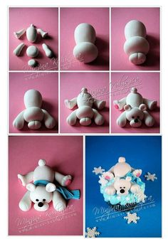 fondant polar bear tutorial | tutorials