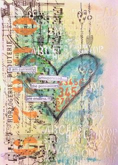 ART JOURNAL PAGE | UNSUPERVISED | Nika In Wonderland Art Journaling and Mixed Media Tutorials