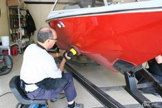 See how these guy transformed an old oxidized finish into a beautiful red.  Nice Work. http://www.meguiarsonline.com/forums/showthread.php?43076-1979-Ski-Supreme-ski-boat-back-from-Davey-Jones-Locker