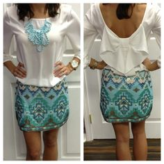 Sequin skirt $52