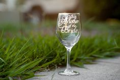 Step Mother of the Bride Wine Glass, Stepmom Wedding Glass,Stepmother Toasting Glass, Stepmother Wedding Glass, More Glass Options Available by EVerre on Etsy
