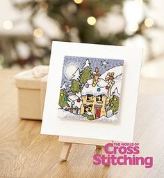 Winter cottage, cross stitch design inspiration by Michael Powell, The World of Cross Stitching magazine, issue 196