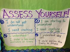 Blog post about helping students self-assess their own understanding