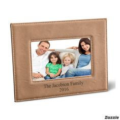 Personalized Black 5X7 Tan Leatherette Frame