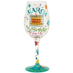 Lolita Love My Birthday Month Wine Glass, January To put it simply, at Santa Barbara Design Studio, we make what we love and we love what we make. Month Gemstones, Birthstones By Month, Birthday Month, Birthday Bash, Birthday Stuff, Hand Painted Wine Glasses, Things To Sell, Drinkware, January
