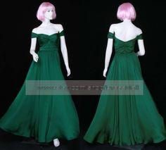 Dark green off the shoulder evening dress floor length long formal dress