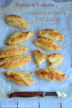 Maltese Ricotta Puff Pastries (or use filo pastry) Malta Food, Puff Pastry Recipes, Puff Pastries, Phyllo Dough, Food Inspiration, Easy, Good Food, Food And Drink, Cooking Recipes