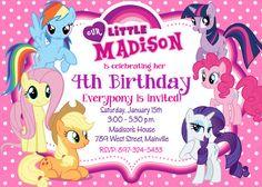 Mi pequeño Pony fiesta invitación del por PrettyPaperPixels en Etsy