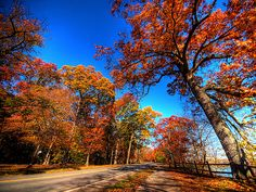 """the historic Niagara Parkway, or """"River Road,"""" is the route that Winston Churchill called """"the prettiest Sunday afternoon drive in the world,"""" and follows the winding curves of the Niagara River, which divides Canada and the U.S. The loveliest stretch in autumn is between the small towns of Queenston and Niagara-on-the-Lake, Ontario"""