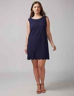 Navy Lace Dress by Julia Jordan | Lane Bryant