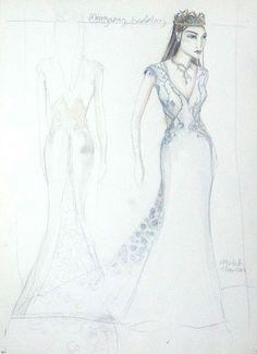Sketch per il vestito nuziale di Margaery Tyrell