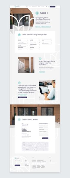 Medic-r clinic on Behance Layout Design, Web Layout, Icon Design, Web Design For Beginners, Web Design Tutorials, Homepage Design, Web Ui Design, Webdesign Layouts, Webdesign Inspiration